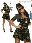 Ladies Sexy Army Girl Soldier Uniform Womens Military Fancy Dress Costume Outfit