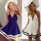 Women Summer Casual Sleeveless Party Evening Cocktail Short Mini Dress Stylish