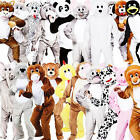 Deluxe Animal Mascot Adults Fancy Dress Book Week Mens Ladies Costumes Outfits