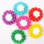 7/35pcs New Colorful Resins Flower Charms Flatback Stick-on Embellishments DIY J