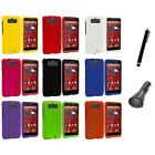 For Motorola Droid Mini XT1030 Color Hard Rubberized Case Cover+Charger+Pen