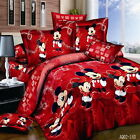 Mickey Mouse Double/Queen/King Size Quilt/Doona/Duvet Cover Sett New 100% Cotton