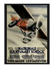 Nationale Luchtvaart School - Vintage Early Aviation Poster