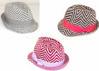 BCBGeneration Fedora Hat Grey Rosewood Blue Suede Shoes Chevron Print NEW Org$38