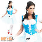 Dorothy Ladies Fancy Dress Fairytale Costume Book Movie Adult Outfit UK 10-22