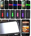 BUILT IN SCREEN PROTECTOR Faceplate Quality Phone Cover Case For Motorola Moto E