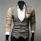 PROMOTION New Men Slim Fit Stand Collar Blazer Coat Outwear Jacket Casual Suits