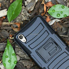For Verizon Sony Xperia Z3v Case Cover Advanced Armor Protector Holster+Screen