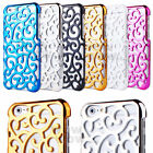 Electroplating PC Hollow Pattern Hard Case For Apple iPhone 6 / 6 Plus 5.5