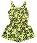 Baby Phat Girls Lime Punch Animal Print Romper Size 4 5/6 $37
