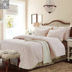 King Size Quilted Bedspreads Set New 100% Cotton Patchwork Coverlet Bed Linen