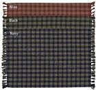 Sturbridge Placemats by Park Designs, Wine, Black, Green, Navy or Mustard, Sets