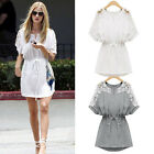 Fashion Summer Sexy Lace Floral Casual Short Dress Evening Cocktail Party