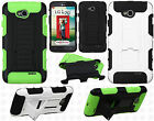 For LG Optimus Exceed 2 VS450 HYBRID KICKSTAND Rubber Case Cover Accessory