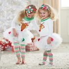 XMAS Baby Infant Toddler Girls Tulle Tutu Pants Dress Outfit Suit Leggings Skirt