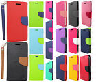 For Alcatel OneTouch Pop Icon Premium Leather Two Tone Wallet Pouch Flip Case