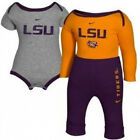 LSU Tigers Newborn Infant 2 Creeper and Pant Set (14)