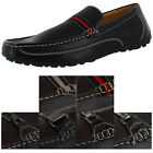 Moda Essentials Men's Leather Loafers Slip On Shoes Casual Size 10.5