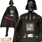 Darth Vader + Mask Mens Fancy Dress Star Wars Dark Side Adults Costume Outfit