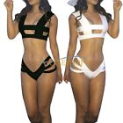 Sexy Women's Ladies Two-Piece Vest Bikini Top &Deep V Bandage Bottom Bikini Sets