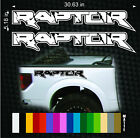 PAIR FORD RAPTOR TRUCK SIDE BED LETTERING VINYL DECALS STICKERS fits 2010-2014