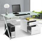 Computer Desk PC Table Home Office desk Black White Furniture Workstation New