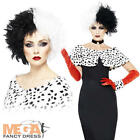 Evil Madame + Wig Ladies Halloween Fancy Dress Womens Villian Adult Costume