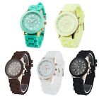 5 Candy Color Fashion Bling Lady   Jelly Silicone Quartz Sport Wrist Watch New