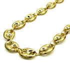 "28-30"" 9mm 10k Yellow Gold Fancy Gucci Mariner Anchor Mens Chain Necklace"