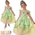 Shimmer Tiana Girls Fancy Dress Disney Fairytale Kids Childrens Costume Outfit