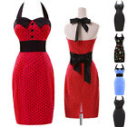 SLIM Vintage Rockabilly Swing 50s 60s pinup party Bodycon Floral MINI Prom Dress