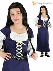 Girls Maid Marion Medieval Tudor Queen Costume Kids Book Week Day Fancy Dress