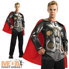 Deluxe Thor 2 + Cape Mens Fancy Dress Dark World Superhero Adults Costume Outfit