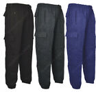 J1 Mens Cargo Combat Jogging Bottoms Trousers Elasticated Tracksuit Joggers Gym