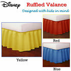 Yellow Blue Red Ruffled Bed Valance / Bedskirt by Disney - SINGLE King Single