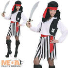 Caribbean Pirate Ladies Fancy Dress High Seas Buccaneer Womens Adults Costume