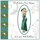 Handmade Personalised Birthday Card Dress Sister Mam Cousin ANY AGE Art Deco
