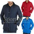 Mens Cord Collar Diamond Quilted Padded Hunter Coat Jacket Mens Size