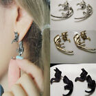 1 Pair New Long Tail Small Leopard Cat Puncture Girls Boy Stud Earring Reliable
