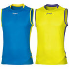 ASICS MENS FUJI SLEEVELESS RUNNING TOP - NEW TRAINING GYM FITNESS EXERCISE VEST