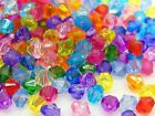 Mixed Colour or Plain Acrylic Faceted Bicone Beads Kids Craft 4mm 5mm 6mm 8mm ML