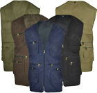 Mens Mesh Lined Gilet Bodywarmer Body Coat Country Hunting Shooting Safari