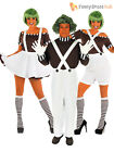 Adults Mens Ladies Oompa Loompa Umpa Lumpa Roald Dahl Fancy Dress Costume + Wig