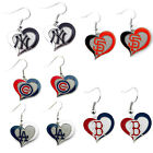 Brand New Aminco MLB Baseball Teams Swirl Heart Earring Dangle Charm on Ebay