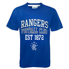 Rangers FC Official Football Gift Boys Graphic T-Shirt Royal (RRP £9.99!)