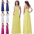 CHEAP Maternity Long Evening Party Gowns Formal Bridesmaids Prom Dresses US 6-20