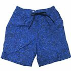 Paul Smith Swimwear Slim Fit Swim Shorts NEW $195 Blue Black Board Long Classic