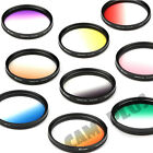 52 55 58mm Gradual Color Lens Filter Blue Brown Purple Pink Green Yellow