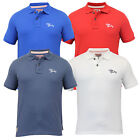Mens Polo T Shirt Tokyo Laundry Pique Top Short Sleeved Collared Summer Casual