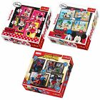 Disney Mickey Minnie Mouse Spiderman Jigsaw 4 In 1 Puzzle Trefle 35 48 54 70 New